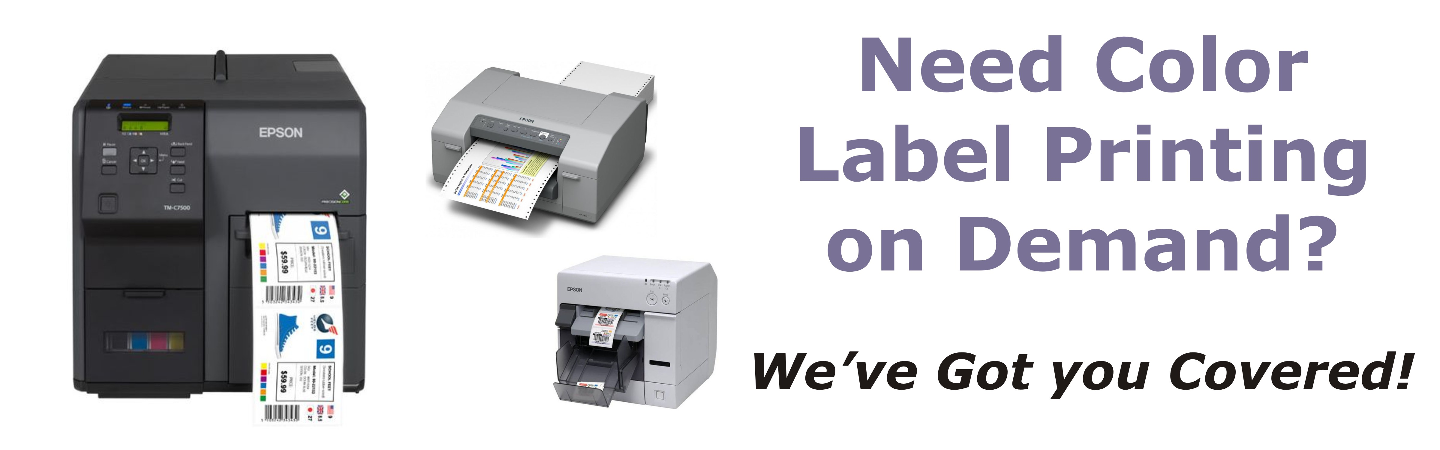 On Demand Color Label Printers